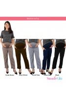 SummerGlitz Maternity Regular Tapered Pants - Black
